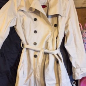 Banana republic classic belted trench coat.